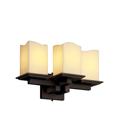 Justice Design CandleAria Montana 3-Light Wall Sconce in Dark Bronze CNDL-8676-19-CREM-DBRZ photo