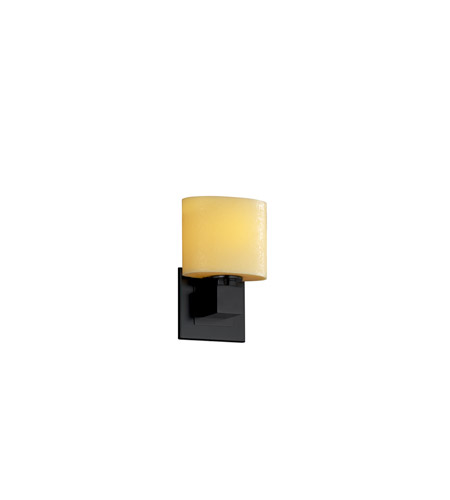 Justice Design CNDL-8707-30-AMBR-MBLK CandleAria 1 Light 7 inch Matte Black ADA Wall Sconce Wall Light in Amber (CandleAria) photo