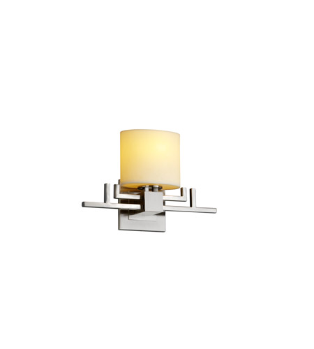 Justice Design CandleAria Aero Ada 1-Light Wall Sconce in Brushed Nickel CNDL-8711-30-CREM-NCKL photo