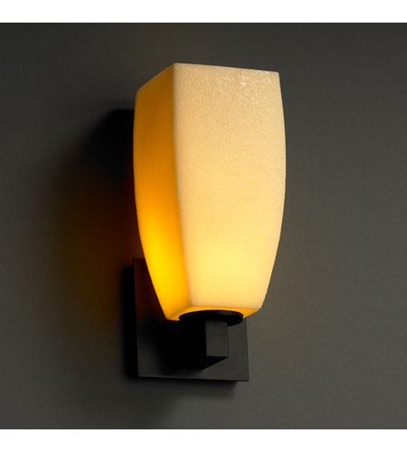 Justice Design CNDL-8921-65-AMBR-MBLK CandleAria 1 Light 5 inch Matte Black Wall Sconce Wall Light photo