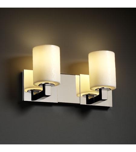Justice Design CandleAria Modular 2-Light Bath Bar in Polished Chrome CNDL-8922-10-CREM-CROM photo