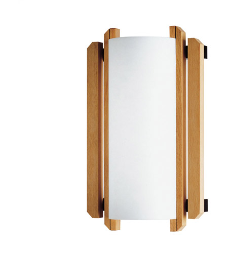Justice Design Domus Trommel Beech Wood Wall Sconce (Ada) DOM-8309 photo