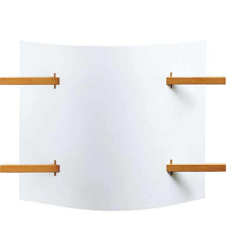 Justice Design Domus Folio Beech Wood Wall Sconce DOM-8320 photo