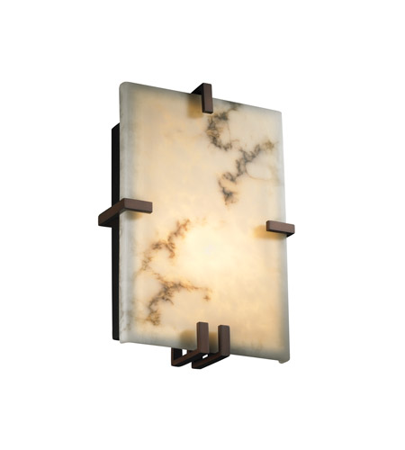 Justice Design LumenAria Clips Rectangle Wall Sconce (Ada) in Dark Bronze FAL-5551-DBRZ photo