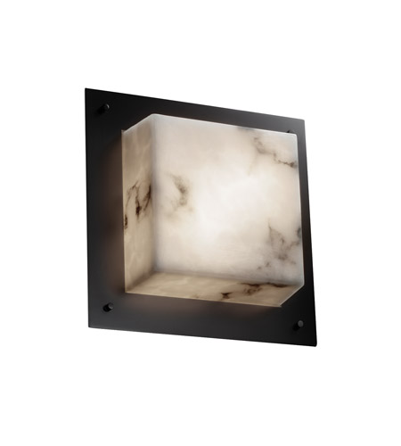 Justice Design FAL-5565-MBLK Signature 2 Light 12 inch Matte Black Wall Sconce Wall Light in Incandescent