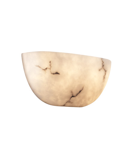 Justice Design FAL-5725 LumenAria 2 Light 15 inch Faux Alabaster ADA Wall Sconce Wall Light photo