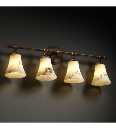 Justice Design FAL-8524-20-DBRZ LumenAria 4 Light 32 inch Dark Bronze Bath Bar Wall Light photo