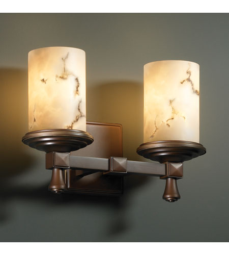 Justice Design FAL-8532-10-DBRZ LumenAria 2 Light 13 inch Dark Bronze Bath Bar Wall Light photo