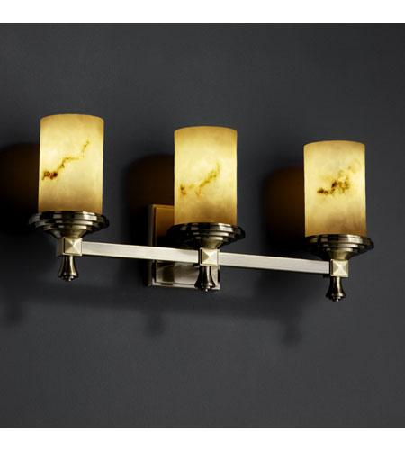 Justice Design LumenAria Deco 3-Light Bath Bar in Antique Brass FAL-8533-10-ABRS photo