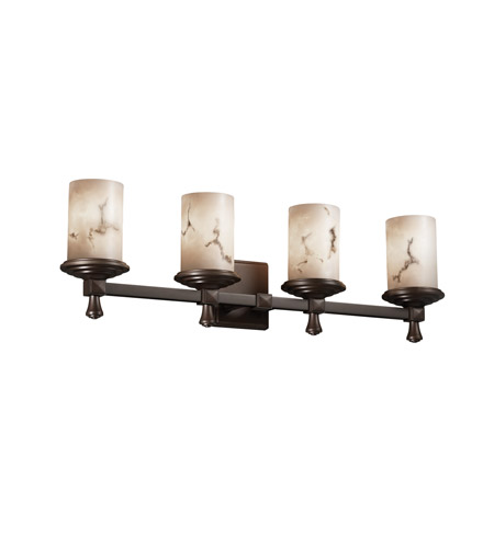 Justice Design FAL-8534-10-DBRZ LumenAria 4 Light 29 inch Dark Bronze Bath Bar Wall Light photo