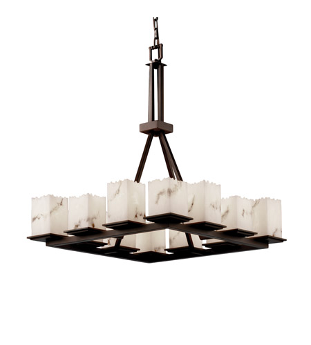 Justice Design LumenAria Montana 12-Light Ring Chandelier (Tall) in Dark Bronze FAL-8663-17-DBRZ photo