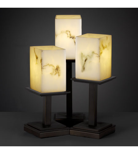 Justice Design LumenAria Montana 3-Light Table Lamp in Dark Bronze FAL-8697-15-DBRZ photo