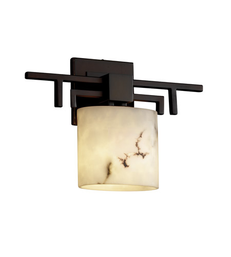 Justice Design FAL-8711-30-DBRZ LumenAria 1 Light 14 inch Dark Bronze ADA Wall Sconce Wall Light in Oval, Fluorescent photo