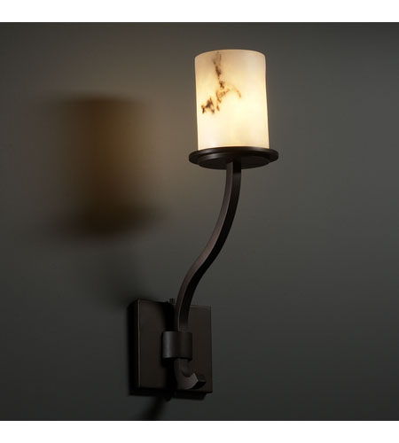Justice Design LumenAria Sonoma 1-Light Wall Sconce (Tall) in Dark Bronze FAL-8784-10-DBRZ photo