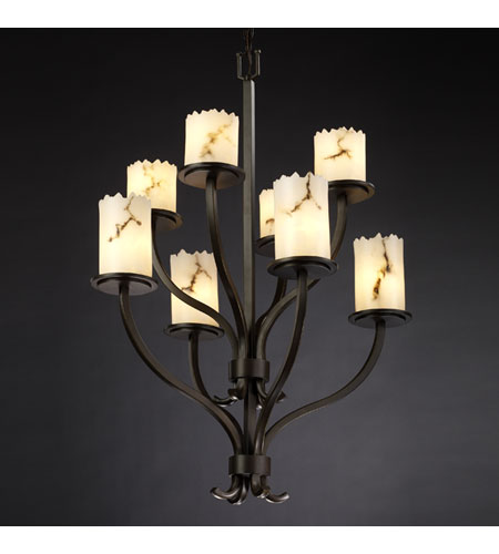 Justice Design LumenAria Sonoma 8-Light 2-Tier Chandelier in Dark Bronze FAL-8788-12-DBRZ photo