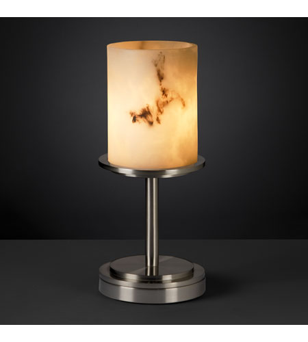 Justice Design LumenAria Dakota 1-Light Table Lamp (Short) in Brushed Nickel FAL-8798-10-NCKL photo