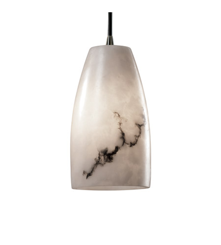 Justice Design LumenAria Pendants Small 1-Light Pendant in Antique Brass FAL-8816-28-ABRS photo