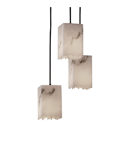 Justice Design LumenAria Pendants Small 3-Light Cluster Pendant in Matte Black FAL-8864-17-MBLK photo