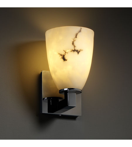 Justice Design FAL-8921-18-BLKN LumenAria 1 Light 5 inch Black Nickel Wall Sconce Wall Light in Tapered Cylinder photo