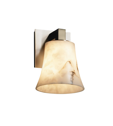 Justice Design FAL-8921-20-NCKL LumenAria 1 Light 6 inch Brushed Nickel Wall Sconce Wall Light in Round Flared photo
