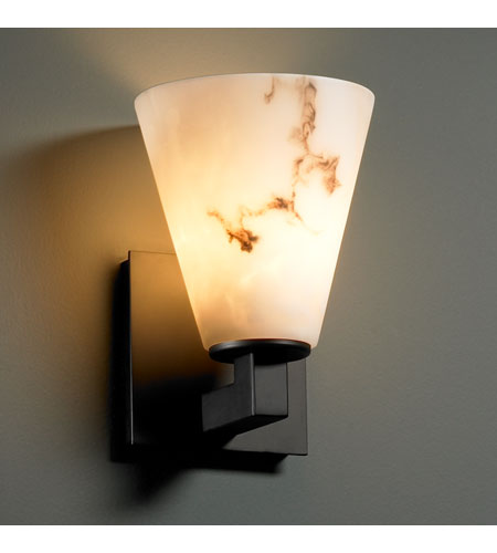 Justice Design LumenAria Modular 1-Light Wall Sconce in Matte Black FAL-8921-50-MBLK photo