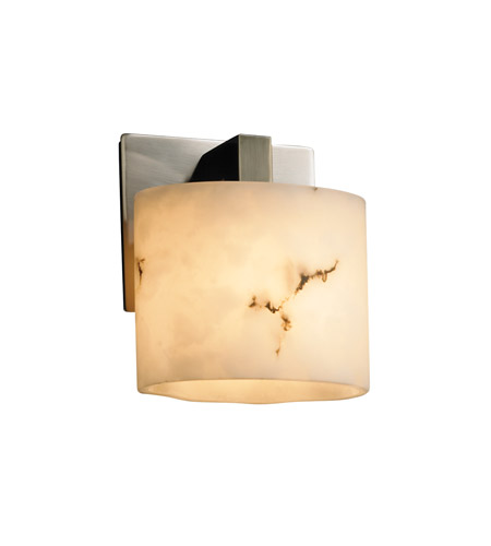 Justice Design FAL-8931-30-NCKL LumenAria 1 Light 7 inch Brushed Nickel ADA Wall Sconce Wall Light in Oval, Fluorescent photo