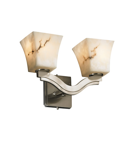 Justice Design LumenAria Bend 2-Light Wall Sconce (Style 2) in Brushed Nickel FAL-8975-40-NCKL photo