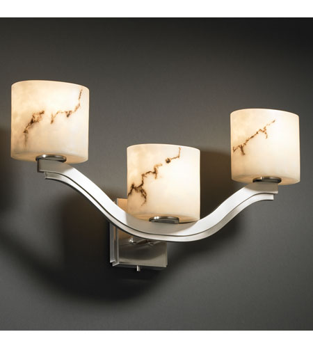 Justice Design LumenAria Bend 3-Light Wall Sconce (Style 2) in Brushed Nickel FAL-8976-30-NCKL photo