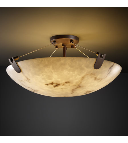 Justice Design FAL-9617-35-DBRZ LumenAria 8 Light 21 inch Dark Bronze Semi-Flush Bowl Ceiling Light in Round Bowl photo