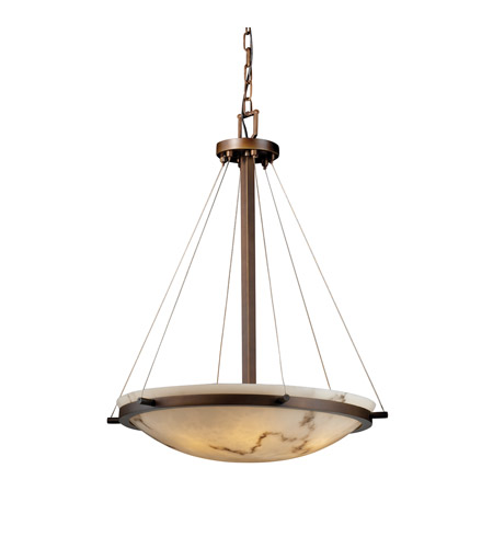 Justice Design FAL-9692-35-DBRZ LumenAria 6 Light Dark Bronze Pendant Bowl Ceiling Light photo