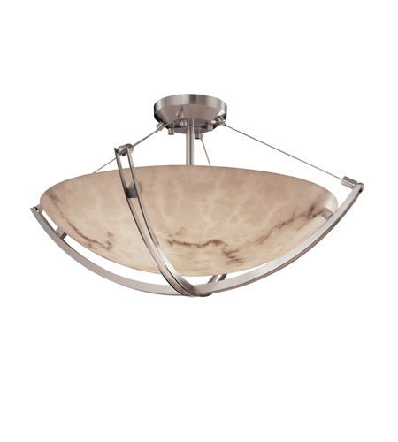 Justice Design FAL-9712-35-NCKL LumenAria 6 Light 21 inch Brushed Nickel Semi-Flush Bowl Ceiling Light in Round Bowl photo