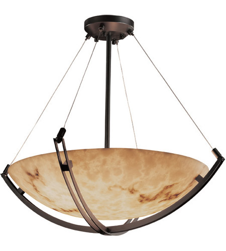 Justice Design FAL-9729-35-DBRZ LumenAria 12 Light Dark Bronze Pendant Bowl Ceiling Light photo