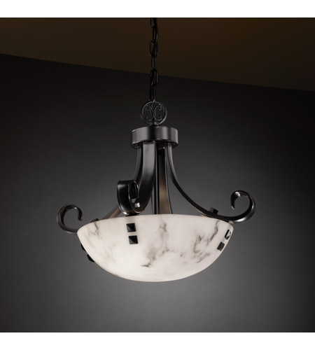 Justice Design FAL-9740-35-MBLK-F3 Signature 2 Light 19 inch Matte Black Pendant Ceiling Light in Pair of Square with Points, Round Bowl, Incandescent FAL-9740-35-MBLK-F3_2.jpg