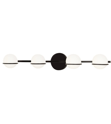 Justice Design FSN-4164-OPAL-MBLK Fusion LED 32 inch Matte Black Bath Bar Wall Light, Centric Family photo thumbnail