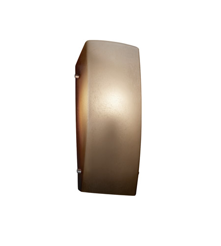 Justice Design FSN-5135-CRML-NCKL Signature 1 Light 6 inch Brushed Nickel ADA Wall Sconce Wall Light in Caramel, Incandescent