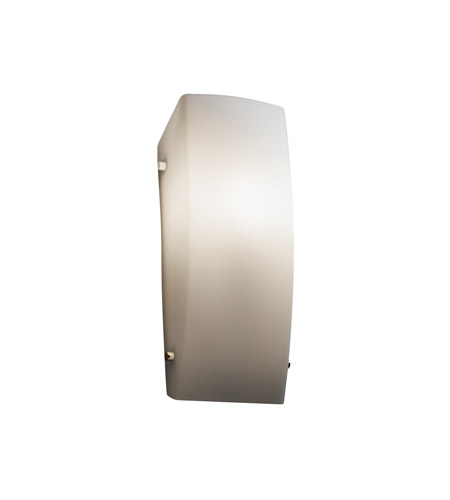 Justice Design FSN-5135-OPAL-CROM Signature 1 Light 6 inch Polished Chrome ADA Wall Sconce Wall Light in Opal