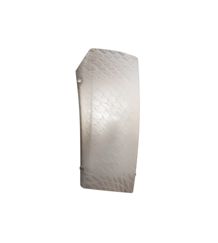 Justice Design FSN-5135-WEVE-NCKL Signature 1 Light 6 inch Brushed Nickel ADA Wall Sconce Wall Light in Weave, Incandescent