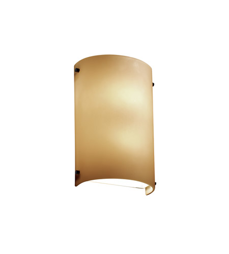 Justice Design FSN-5541-ALMD-MBLK Signature 2 Light 8 inch Matte Black ADA Wall Sconce Wall Light in Almond, Incandescent