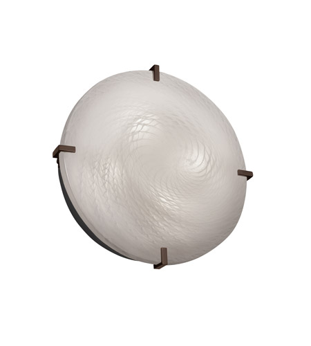 Justice Design FSN-5547-WEVE-DBRZ Signature 4 Light Dark Bronze Wall Sconce Wall Light in Weave, Incandescent