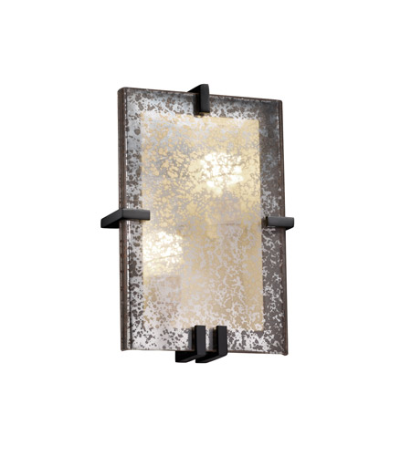 Justice Design Fusion Clips Rectangle Wall Sconce (ADA) in Matte Black FSN-5551-MROR-MBLK photo