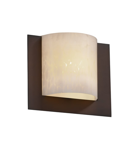 Justice Design FSN-5560-DROP-DBRZ Fusion 1 Light 12 inch Dark Bronze ADA Wall Sconce Wall Light in Droplet photo