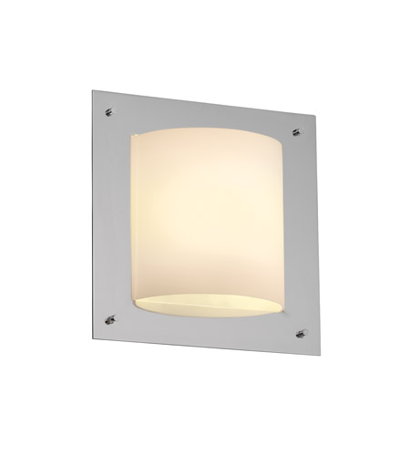 Justice Design FSN-5561-OPAL-CROM Fusion 1 Light 12 inch Polished Chrome ADA Wall Sconce Wall Light in Opal photo