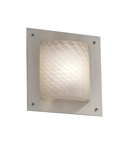 Justice Design Fusion Framed Square 4-Sided Wall Sconce (Ada) in Brushed Nickel FSN-5561-WEVE-NCKL photo