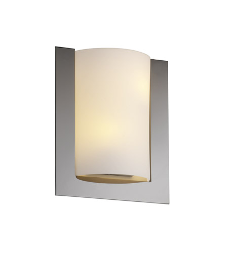 Justice Design Fusion Framed Rectangle 3-Sided Wall Sconce (Ada) in Black Nickel FSN-5562-OPAL-BLKN photo