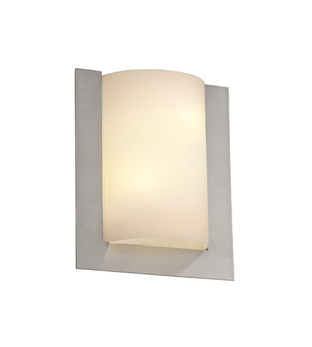 Justice Design FSN-5562-OPAL-NCKL Fusion 2 Light 12 inch Brushed Nickel ADA Wall Sconce Wall Light in Opal photo