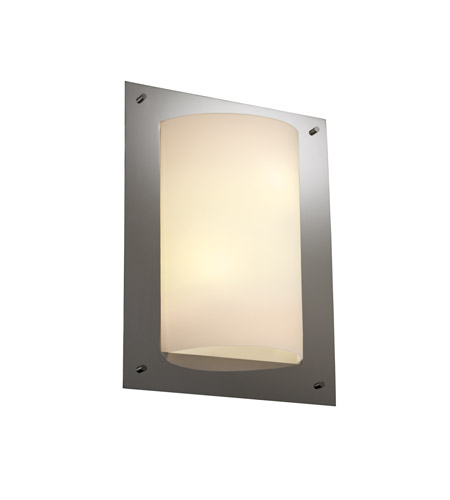 Justice Design Fusion Framed Rectangle 4-Sided Wall Sconce (Ada) in Black Nickel FSN-5563-OPAL-BLKN photo