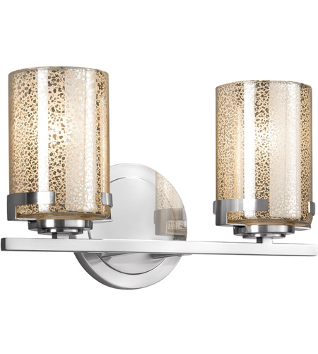 Polished Chrome Mercury Bathroom Vanity Lights