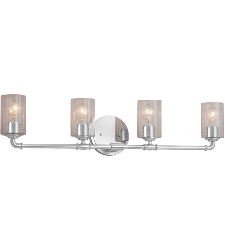 Justice Design FSN-8464-18-OPAL-NCKL-LED4-2800 Fusion LED 35 inch Brushed Nickel Bath Bar Wall Light in 2800 Lm LED, Opal, Tapered Cylinder photo thumbnail