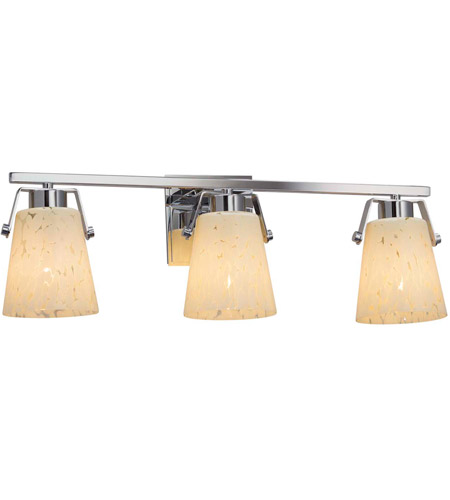 Polished Chrome Fusion Bathroom Vanity Lights