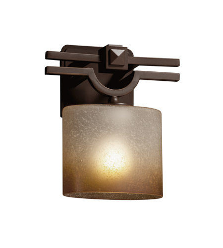 Justice Design FSN-8507-30-CRML-CROM-LED1-700 Fusion LED 9 inch Polished Chrome ADA Wall Sconce Wall Light in 700 Lm LED, Caramel, Oval photo thumbnail